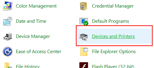 """""""Device and Printer""""."""