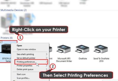"choosing ""Printing Preference"