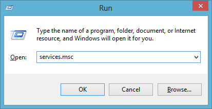 """Access the """"Run"""" dialog box and write """"Services. MSC"""". Hit """"OK""""."""